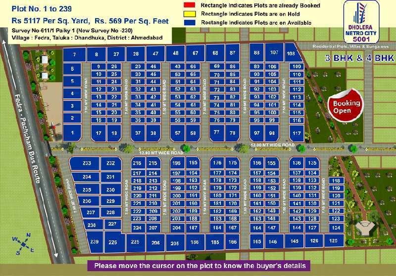 Dholera Metro City 5001 Residential Plots