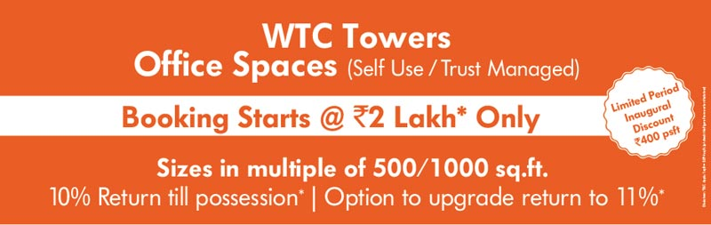 World Trade Centre Only @3449000/- with 11% Return