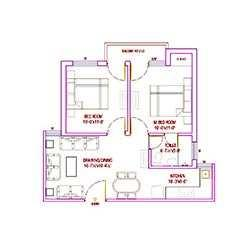 Trehan Lunched 2 BHK flats very low price in Bhiwadi