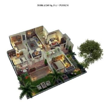 3 BHK Flats & Apartments for Sale in Cosmos Greens, Bhiwadi