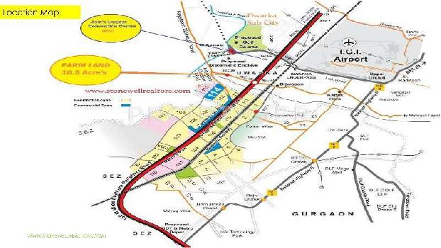 FOR SELL; FARM LAND AT BIJWASAN, BAMNOLI, TEHSIL-KAPASHERA, DISTT-SOUTH WEST DELHI