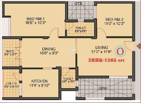 2 Bhk New Flat for sale in saibaba colony, coimbatore