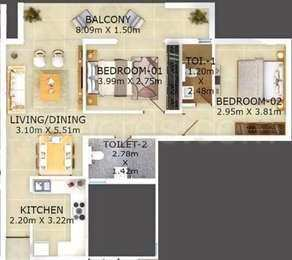 2 BHk Apartment for Sale in Caraswada goa