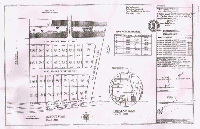 Own Residential Final N.A. Plot in Shirdi Devt. Zone