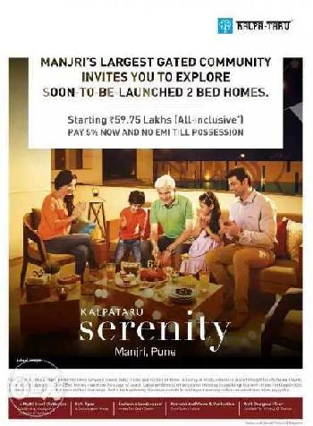 KALPATRU SERINITY - EMI TILL PASSION PAY ONLY 5%