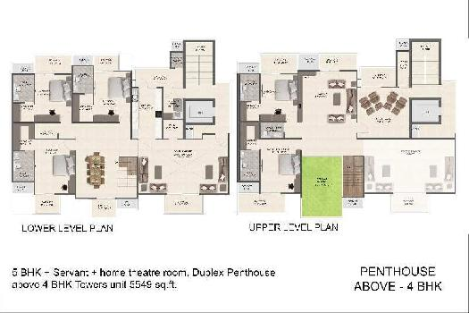 5 BHK Penthouse with Servant Room & Home Theater at Pre-Launch Rates