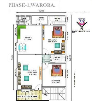2 BHK Individual Houses / Villas for Sale in Chorala, Chandrapur