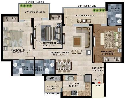 3 BHK Flats & Apartments for Sale in Kharar, Mohali