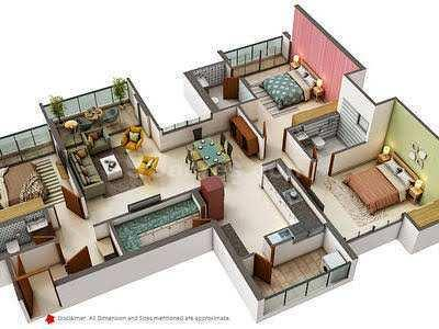 2 bhk flat for sale at Nipania , Indore