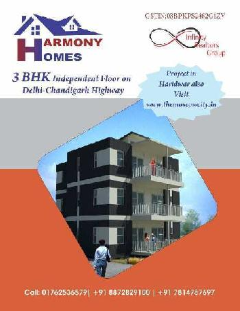 3BHK AFFORDABLE INDEPENDENT FLOORS AVAILABLE FOR SALE ON CHANDIGARH-AMBALA HIGHWAY