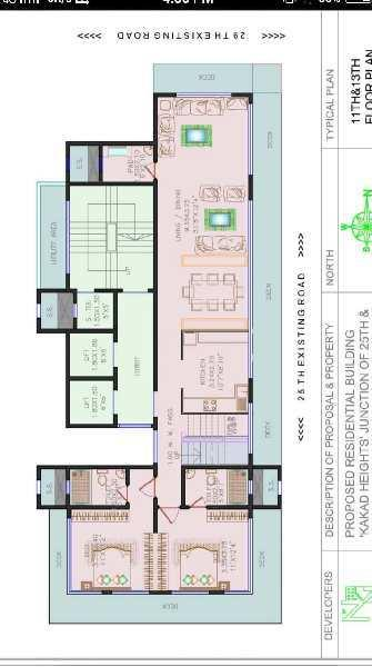 4 BHK Duplex Spacious Flat For Rent In Kakad Heights, Junction Of 25th & 29th Road,Off Waterfield Ro