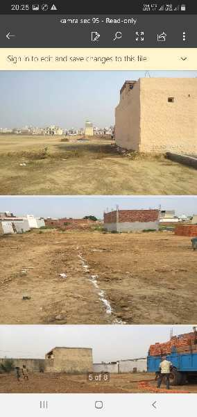 Plot for sale in faridabad sec.95 kamra  plot 50 sqyds 4 pac only