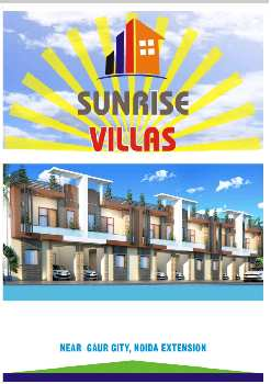 Independent villa for sale sunrise villa crossing republic Duplex 3bhk.1850 sqft 50 Lac