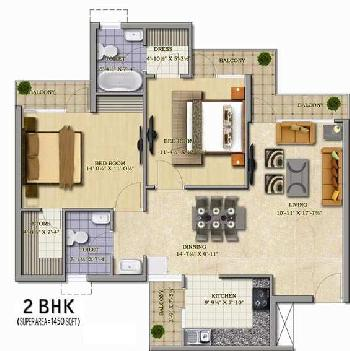2 BHK For Sale in Gomtinagar Extension