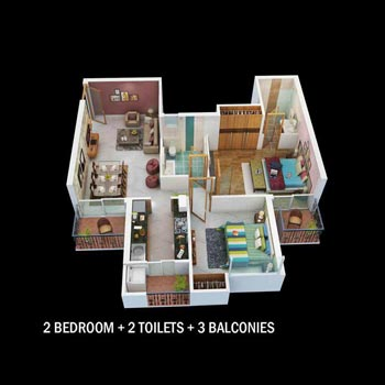 1 BHK Flats & Apartments for Sale in Vrindavan Yojna, Lucknow