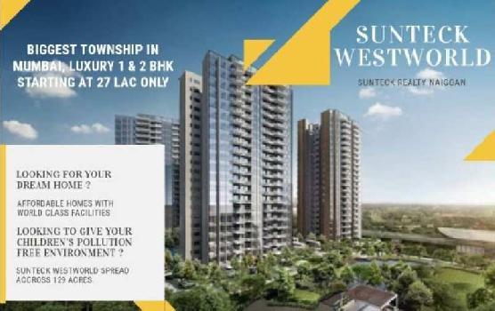 Sunteck West World 1, Tivri, Naigaon East - By Sunteck Realty