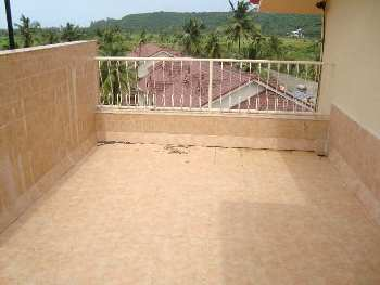1 Bhk 60sqmt flat with open terrace for Rent in Arpora, North-Goa.(25k)