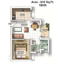 1 BHK Flats & Apartments for Sale in Bahadurgarh
