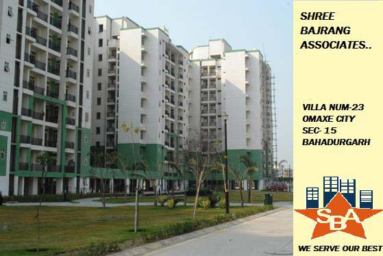 2BHK flat for rent in omaxe city sector 15 bahadurgarh