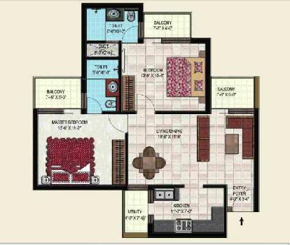 2 BHK Luxury Flats on 200 ft Airport Road Mohali