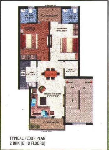 2 BHK Flat With Store Room in Sector 117 Mohali