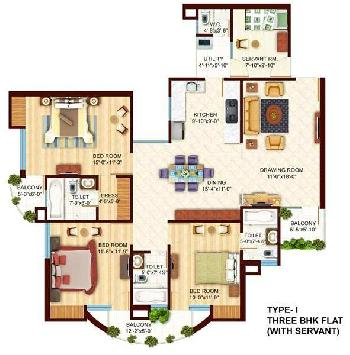 1760 Sq.ft. Flats & Apartments for Sale in Lucknow