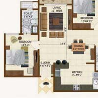 2 BHK Apartment For Sale In Bangalore North, Kogilu Road