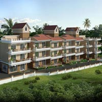 Pool facing 1 BHK Apartment for sale at Siolim