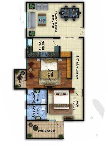 Available Flat At Luckonw