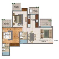 2bhk Flat in Siddharth Vihar Nh-24 Just Rs. 40lac