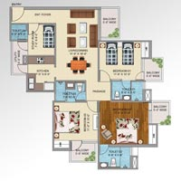3bhk+study flat in noida ext just rs. 35lac onwards