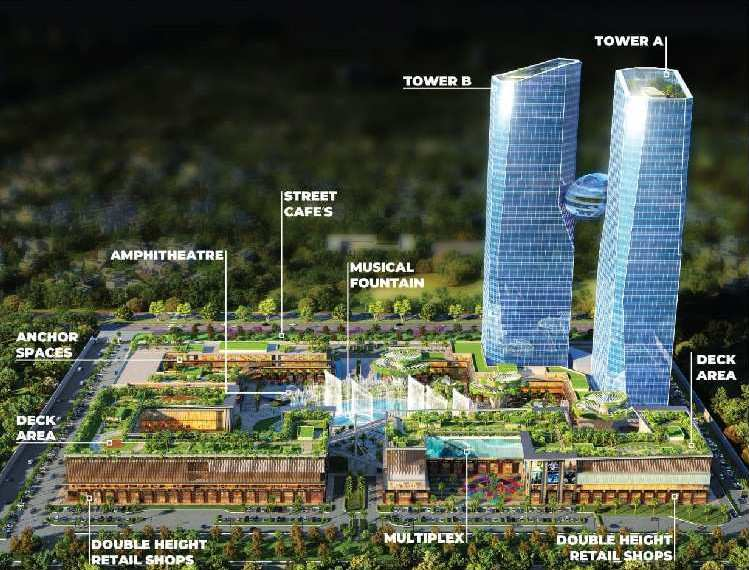 Book Your Office Space, Retail Shops & Entertainment Zone from Cybërthum in Sec-140a Noida. Tallest Commercial Tower- World-class Offices- High-street Retail- River themed Landscapes. Invest in Landmark. Sky Mall. Metro Sec-137 Noida. Tallest Commerc