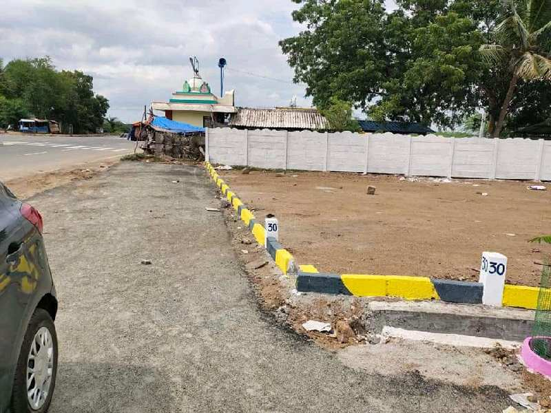 On road site.Dtcp approved land in madurai to palaniNH7