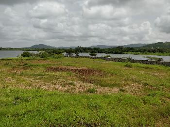 Two acre dam view plot for sale in adale khurd near chandkhed for three CR.