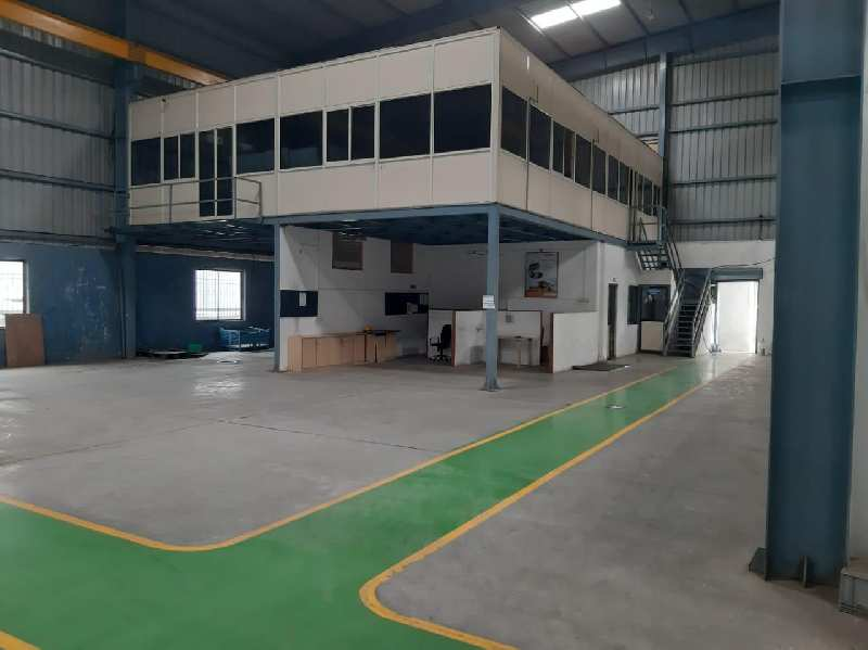 23000 sqft industrial shed for rent in chakan midc phase I near Mahindra