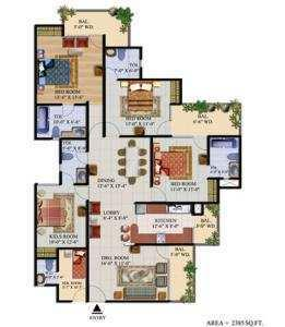 4 BHK Flats & Apartments for Sale in Crossings Republik, Ghaziabad