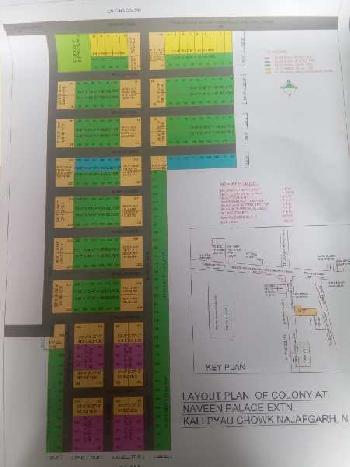 100 gaj plot 20 feet wide road close to L zone Najafgarh Delhi