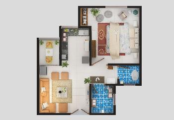 1 BHK Flats & Apartments for Sale in Pali