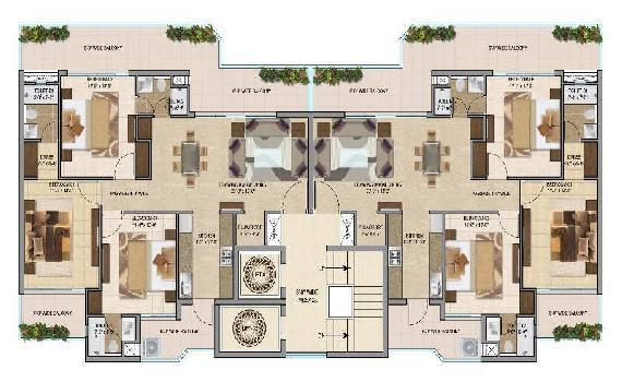 3bhk flat for sale on vip road zirakpur