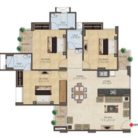 3 BHK Multistorey Luxurious Flat in Sirsi Road