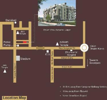 2 BHk Apartment For sale in Sanganer, Jaipur