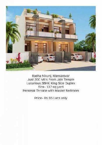 3 BHk Villa  For sale in Radha Nikunj, Jaipur