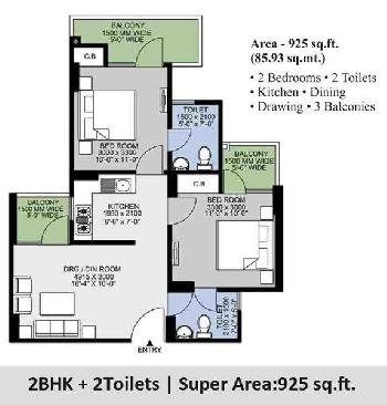 2 BHK Flat For Sale At Noida