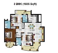 3 BHK Flats & Apartments for Sale in Zirakpur