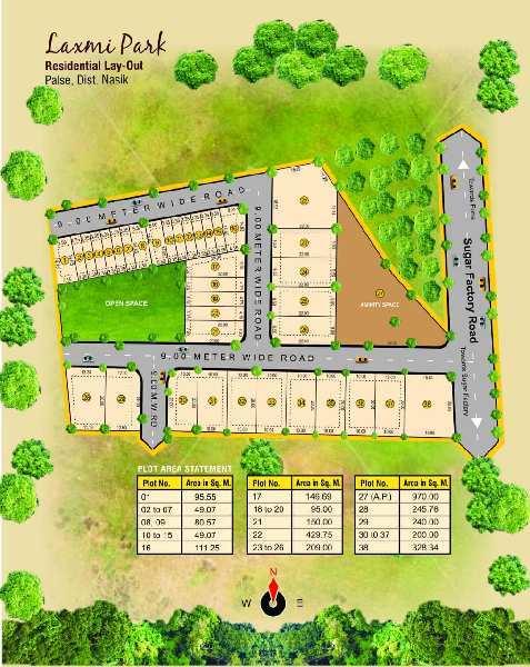 Residential Plot For Sale In Laxmi Park , Plot No. 17 ,Nashik Pune Highway, N.H 50 Nashik.