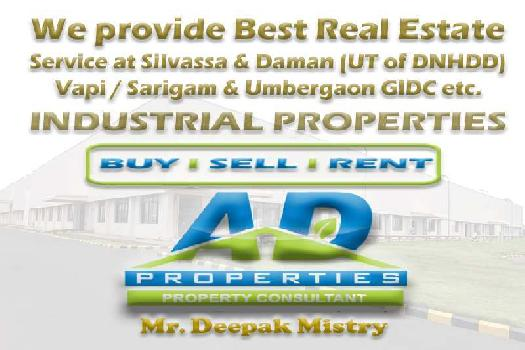 1000 Sq. Mtrs. Factory for SALE in Silvassa.